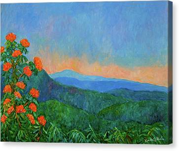 Blue Ridge Morning Canvas Print by Kendall Kessler