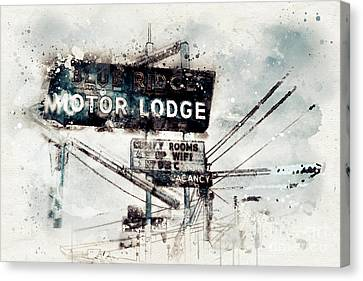 Blue Ridge Motor Lodge #2 Canvas Print by Micah Mackenzie