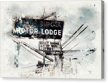 Blue Ridge Motor Lodge #2 Canvas Print