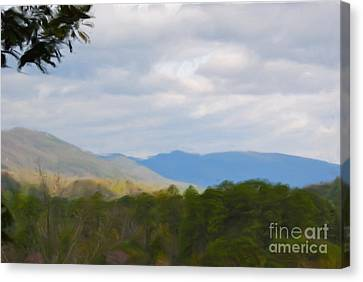 Canvas Print featuring the painting Blue Ridge Mountain by Jan Daniels