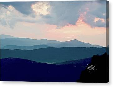 Blue Ridge Mountain Sunset Canvas Print