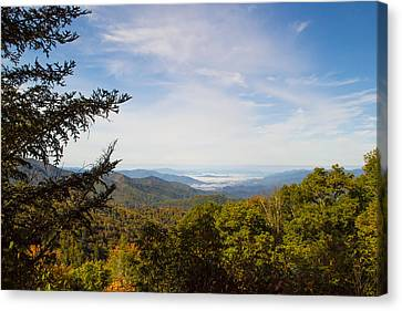 Smokey Mountain Drive Canvas Print - Blue Ridge Mountains - A by James Fowler