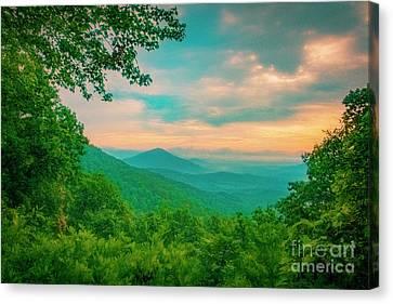 Blue Ridge Mountains Canvas Print by Katya Horner