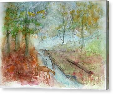 Canvas Print featuring the painting Blue Ridge Mountains Memories by Doris Blessington