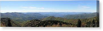 Blue Ridge Mountains Panorama Canvas Print