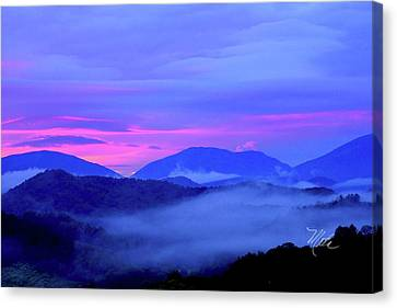 Blue Ridge Mountains Sunset Canvas Print