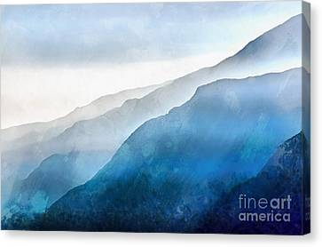 Canvas Print featuring the painting Blue Ridge Mountians by Edward Fielding