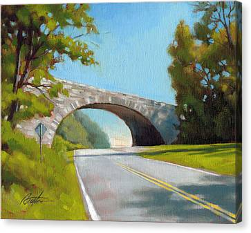 Blue Ridge Overpass Canvas Print by Todd Baxter