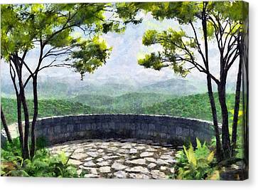 Blue Ridge Painted Canvas Print