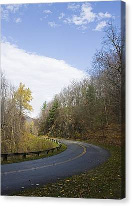 Canvas Print featuring the photograph Blue Ridge Parkway by Alan Raasch