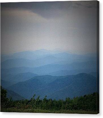 Blue Ridge Parkway Silhouette Canvas Print by Jen McKnight