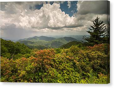 Blue Ridge Parkway Green Knob Overlook Canvas Print