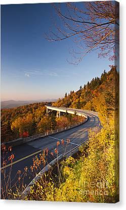 Blue Ridge Parkway Linn Cove Viaduct Fall Colors 2 Canvas Print by Dustin K Ryan