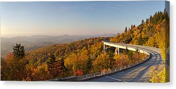 Blue Ridge Parkway Linn Cove Viaduct Fall Colors Canvas Print by Dustin K Ryan