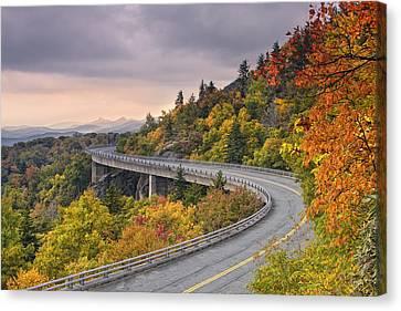 Lynn Cove Viaduct-blue Ridge Parkway  Canvas Print