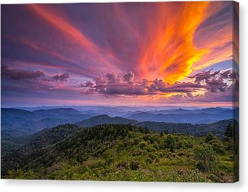 Blue Ridge Parkway - Summer Wages Canvas Print