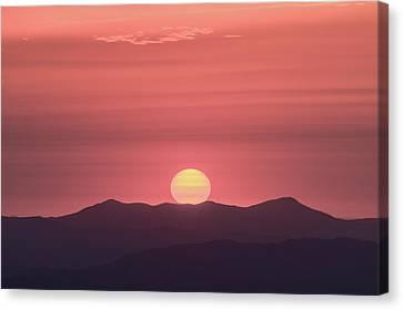 Blue Ridge Parkway Sunrise - A Close View Canvas Print by Bill Swindaman