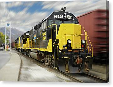 Canvas Print - Blue Ridge Southern 3940 On The Move 2 by Mike McGlothlen