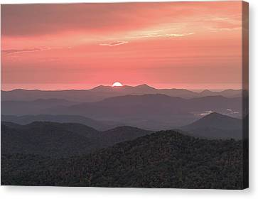 Blue Ridge Sunrise Canvas Print by Bill Swindaman