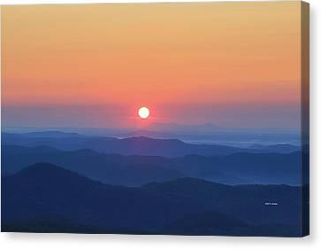 Blue Ridge Sunrise Canvas Print by Dale R Carlson