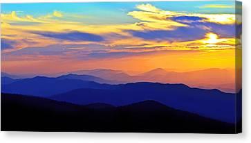 Blue Ridge Sunset, Virginia Canvas Print by The American Shutterbug Society