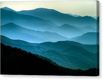 Blue Ridges Canvas Print by Joye Ardyn Durham