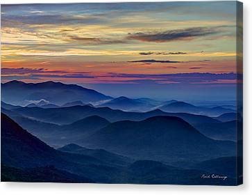 Canvas Print featuring the photograph Blue Ridges Pretty Place Chapel by Reid Callaway