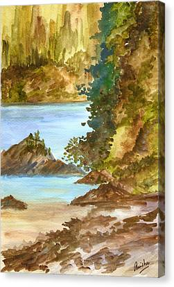 Blue River Canvas Print by Anisha Bordoloi