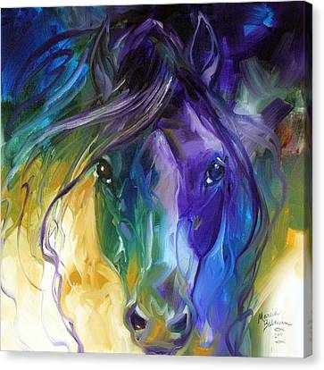 Blue Roan Abstract Canvas Print by Marcia Baldwin