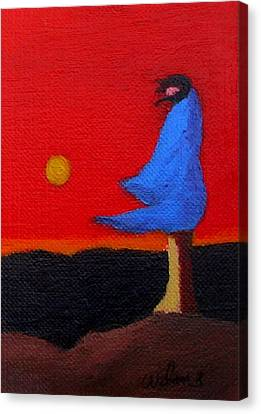 Blue Robe Canvas Print