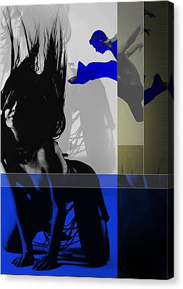 Blue Romance Canvas Print by Naxart Studio
