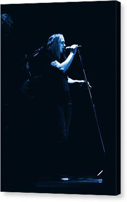 Blue Ronnie At Winterland 1975 Canvas Print by Ben Upham