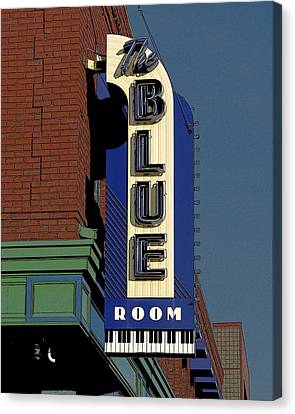 Canvas Print featuring the photograph Blue Room by Jim Mathis
