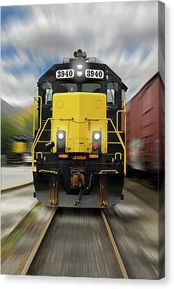 Canvas Print - Blue Rridge Southern 3940 On The Move by Mike McGlothlen