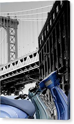 Blue Scooter Canvas Print