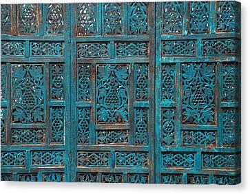 Blue Screens Canvas Print by William Thomas