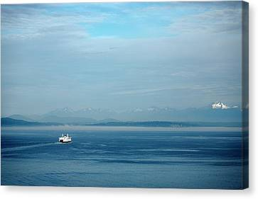 Blue Seattle Canvas Print by Susan Stone