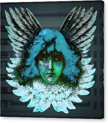 Blue Seraph Canvas Print by Mimulux patricia no No