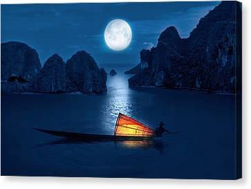 Shore Canvas Print - Blue Serenity by Art Spectrum