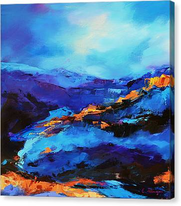 Grand Canyon National Park Canvas Print - Blue Shades by Elise Palmigiani