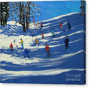 Blue Shadows Canvas Print by Andrew Macara