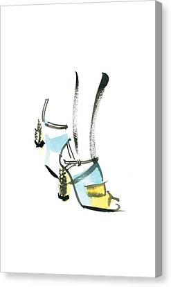 Blue Shoe Canvas Print