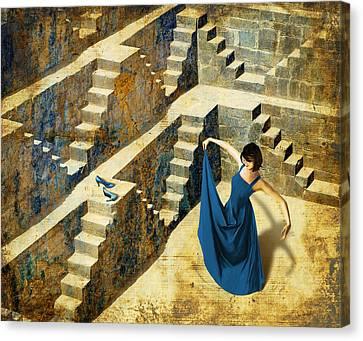 Blue Shoes Canvas Print by Van Renselar