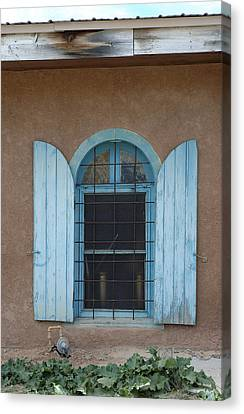 Blue Shutters Canvas Print by Jerry McElroy