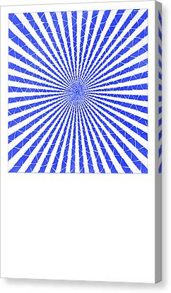 Sine Canvas Print - Blue Sine Wave by KC Pearson