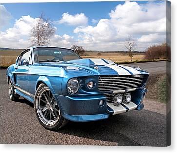 Blue Skies Cruising - 1967 Eleanor Mustang Canvas Print