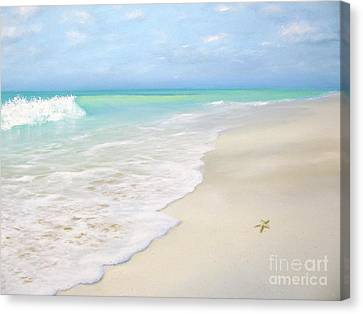 Blue Skies Canvas Print by Janet Claydon