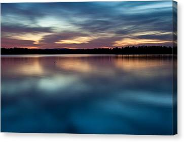 Blue Skies Of Reflection Canvas Print by Jonas Wingfield