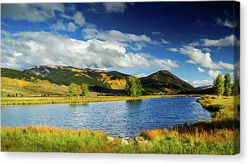 Canvas Print featuring the photograph Blue Skies Over Crested Butte by John De Bord