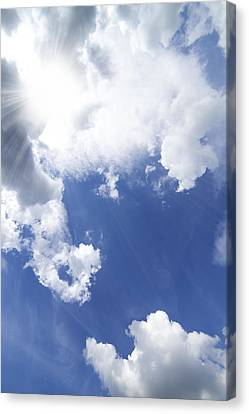 Blue Sky And Cloud Canvas Print by Setsiri Silapasuwanchai